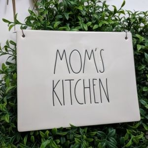 Rae Dunn Wall Plaque Sign w/Wire Mom's Kitchen